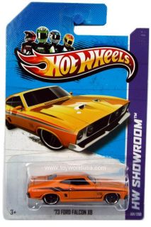 2013 Hot Wheels 198 HW Showroom HW Garage 73 Ford Falcon XB Yellow