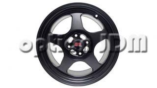 GP Racing Wheels GR6 Flat Black Spoon SW388 Replica 16x7 8x100 114 3