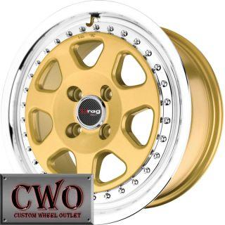 16 Gold Drag Dr 27 Wheels Rim 5x114 3 5 Lug Jeep Wrangler Cherokee