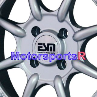 16 16x8 ESM 002 Silver Rims Wheels Deep Dish Step Lip Stance 4x100 BMW