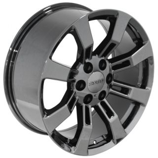 22 Black Chrome Rims Fit Cadillac Escalade Wheel Set