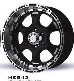 16 inch Black Wheel Rims Helo 842 6 Lug GM Chevy 1500