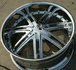 22 Chrome Rims Wheels Nissan Titan Pickup 04 Up 22 x 9 5 6H 30