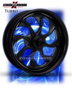 Machine Turbo Black Motorcycle Wheels Street Road Glide Touring