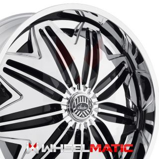 22 Davin PWRFL Spinners 22x8 5 5x108 114 38 Wheels Rims Chrome