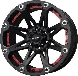 18 inch Ballistic Jester black wheels rims 5x150 +12 Toyota Tundra