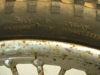 Vintage Dunlop Rim and Tire Chopper Motorcycle Front Wheel Triumph