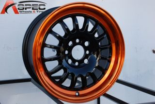 ROTA TRACK R2 4X100 +40 BLACK CANDY TONE ORANGE WHEEL FITS CIVIC YARIS