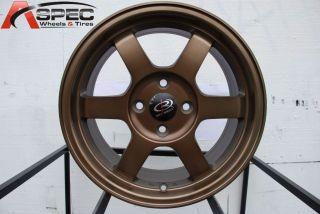 17x8 Rota Grid 5x114 3 35 Full Royal Sport Bronze Wheel Fits RSX Civic