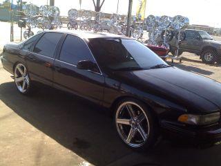 22 Chrome IROC Wheels Tires 5x127 GMC Chevy Truck Impala Caprice 265