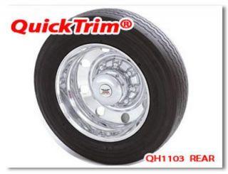 New Ford F450 550 10 Lug Rear Center Caps Chrome