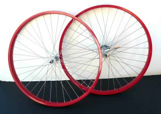 Cruiser Bike 26x2.125 Rear & Front Wheels Rims w coaster Brake Red