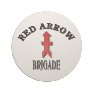 Wisconsin Army National Guard Red Arrow Brigade Beverage Coaster