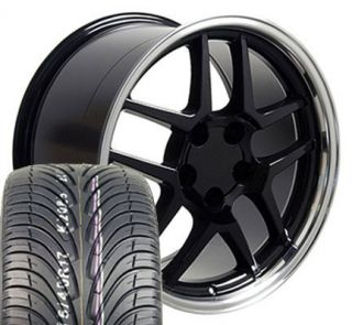 17 Z06 ZO6 Wheels Fit Camaro Firebird Trans Am Black Rims with Nexen