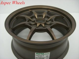 Rota Circuit 8 16x7 4x100 4x114 3 Sport Bronze Wheels
