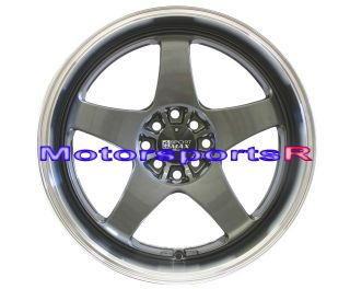 17 XXR 962 Gun Metal Rims Staggered Wheels Deep Dish Lip 89 94 Nissan