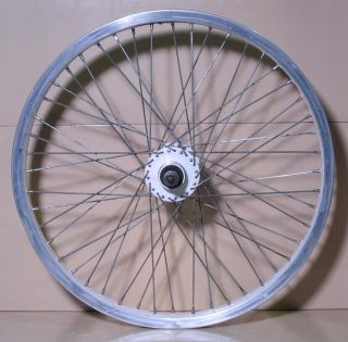 Old School BMX Pro Class 48 Spoke Freestyle Wheels White Used