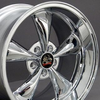 18 9 10 Chrome Bullitt Bullet Style Wheels Rims Fit Mustang® GT 94