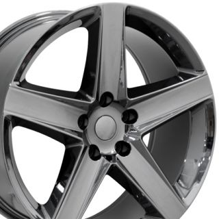 20 Fits Jeep Grand Cherokee Style Wheel Rim Black Chrome 20x9