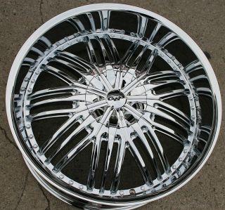 GWG Assasin G24 24 Chrome Rims Wheels Chevrolet Trailblazer