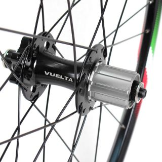 Cross Pro Lite 26 Mountain Bike Wheelset MTB Wheels Black 6 Bolt Disc