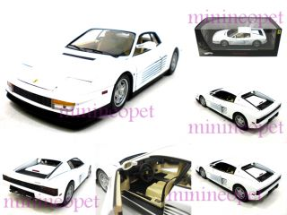 Hot Wheels Elite Ferrari Testarossa Miami Vice 1 18 White