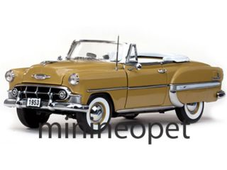 Sun Star 1622 1953 Chevrolet Bel Air Open Convertible 1 18 Diecast