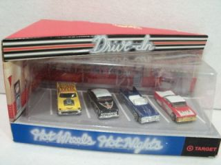 1999 Hot Wheels Hot Nights Drive Inn Target 57 Chevy 1959 Cadillac