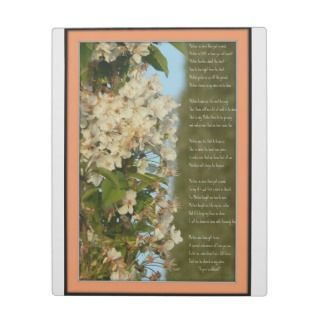 Poem for Mom Photo Plaques