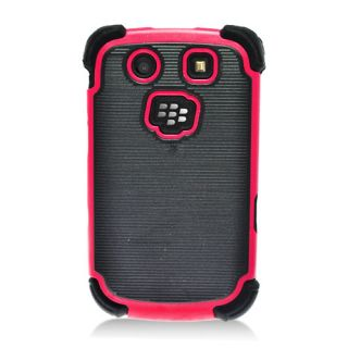 For Rim Blackberry Torch 9800 9810 Silicone Hard Dot TPU Case Black