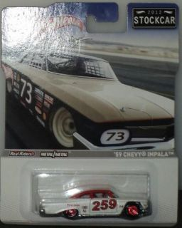 59 Chevy Impala Hot Wheels Racing 2012 Stockcar Real Riders Diecast