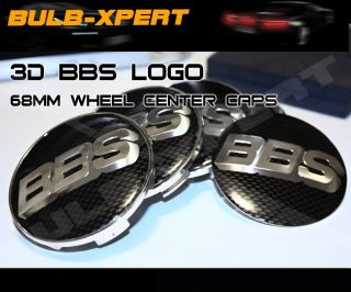 68mm BMW Carbon Fiber Wheel Rim Center Cap 4pcs Set 3D