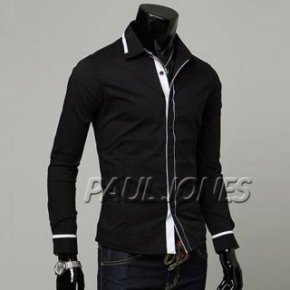 PJ Trendy Mens Slim Luxury Premium Casual Dress Shirts
