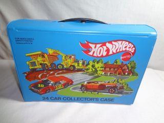 Vintage Antique 1980 Mattel Hot Wheels 24 Car Collectors Storage