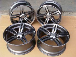 M6 Replica Rims 7 Series 740 745 750 760 Gun Metal Wheels New