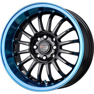 New 15X7 4 100/4 114.3 Dr41 BLACK WITH BLUE TINT Wheels/Rims