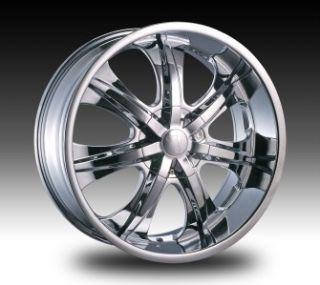 24 inch Velocity VW725 Chrome Wheels Rims 5x120 13