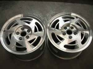 1990 Chevy Corvette Pair of 2 Wheels 17 Aluminum