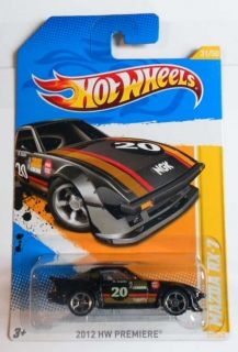 Hot Wheels 2012 Premeire 31 Mazda RX 7 Blk CLR Variation Mint on Card