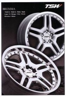 TSW Bremma 18 Chrome Wheels Rims Mercedes Audi VW Volkswagen 5x112