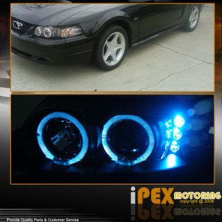 Ford Mustang Halo Projector Black Headlights Tinted Fog LED Third