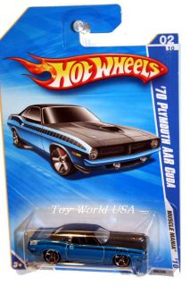 2010 Hot Wheels Muscle Mania 80 70 Plymouth AAR Cuda