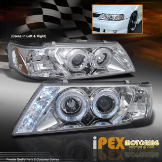 1995 1999 Nissan Sentra 200SX Halo LED Projector Chrome Headlights