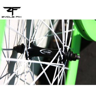 Bright Green Fixed Gear Fixie Bike Bicycle 50mm Deep V Wheelset Wheel