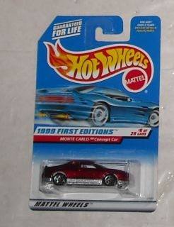 1999 Mattel Hot Wheels First Editions Series Monte Carlo Concept Car