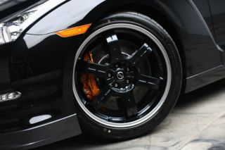 these stunning PERFECT NISSAN BLACK EDITION FORGED wheels and tires