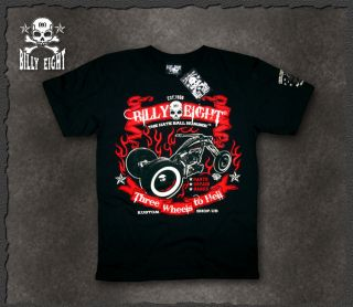 billy Eight★ Rockabilly Hot Rod Rock N Roll Biker Tattoo Herren T