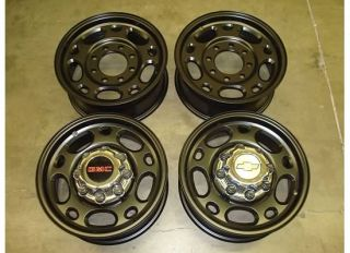 SILVERADO GMC SIERRA 2500 HD WHEELS BLACK Rims OEM 00 10 3500 Factory