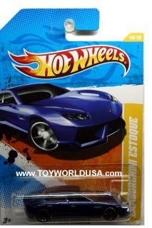 2011 Hot Wheels New Models 48 Lamborghini Estoque Blue