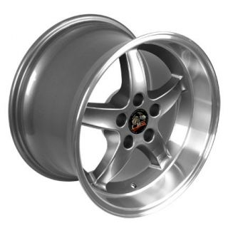 10 5 Gunmetal Cobra Wheels ZR Tires Rims Fit Mustang® GT 94 04